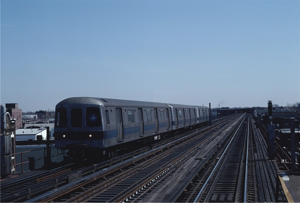 (158k, 1024x693)<br><b>Country:</b> United States<br><b>City:</b> New York<br><b>System:</b> New York City Transit<br><b>Line:</b> IND Fulton Street Line<br><b>Location:</b> 88th Street/Boyd Avenue <br><b>Route:</b> JFK<br><b>Car:</b> R-46 (Pullman-Standard, 1974-75) 1224 <br><b>Photo by:</b> Steve Zabel<br><b>Collection of:</b> Joe Testagrose<br><b>Date:</b> 4/5/1982<br><b>Viewed (this week/total):</b> 2 / 1157