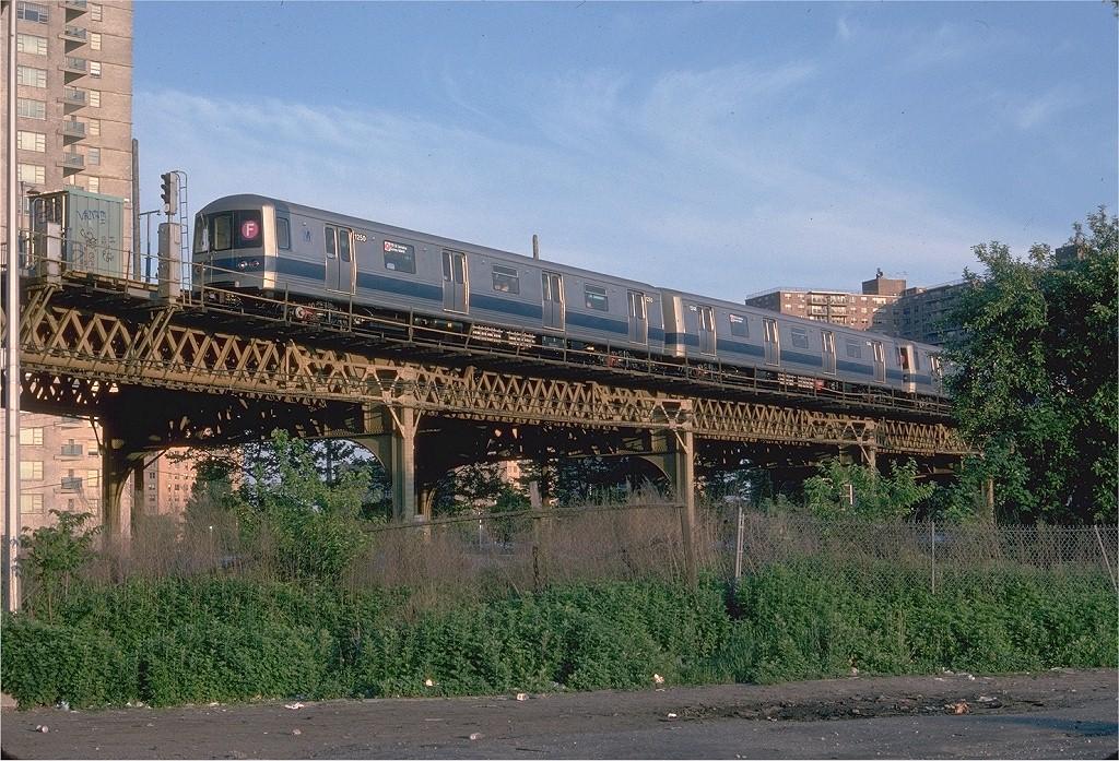 (284k, 1024x697)<br><b>Country:</b> United States<br><b>City:</b> New York<br><b>System:</b> New York City Transit<br><b>Line:</b> BMT Culver Line<br><b>Location:</b> Neptune Avenue <br><b>Route:</b> F<br><b>Car:</b> R-46 (Pullman-Standard, 1974-75) 1250 <br><b>Photo by:</b> Doug Grotjahn<br><b>Collection of:</b> Joe Testagrose<br><b>Date:</b> 5/24/1976<br><b>Viewed (this week/total):</b> 1 / 1470
