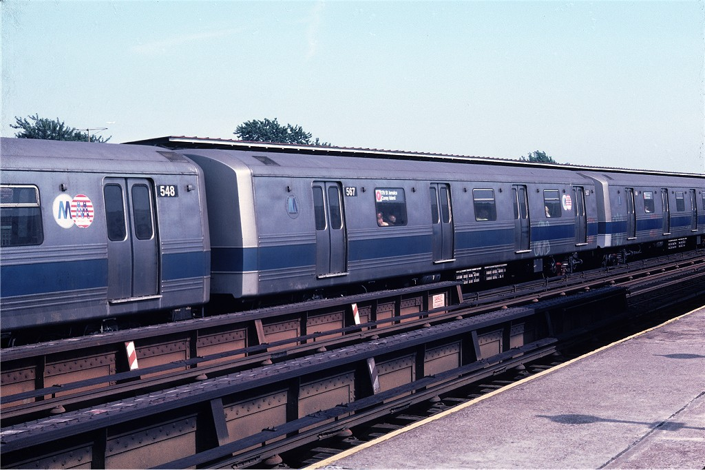 (203k, 1024x682)<br><b>Country:</b> United States<br><b>City:</b> New York<br><b>System:</b> New York City Transit<br><b>Line:</b> BMT Culver Line<br><b>Location:</b> Avenue I <br><b>Route:</b> F<br><b>Car:</b> R-46 (Pullman-Standard, 1974-75) 567 <br><b>Photo by:</b> Doug Grotjahn<br><b>Collection of:</b> Joe Testagrose<br><b>Date:</b> 7/10/1976<br><b>Viewed (this week/total):</b> 7 / 1355