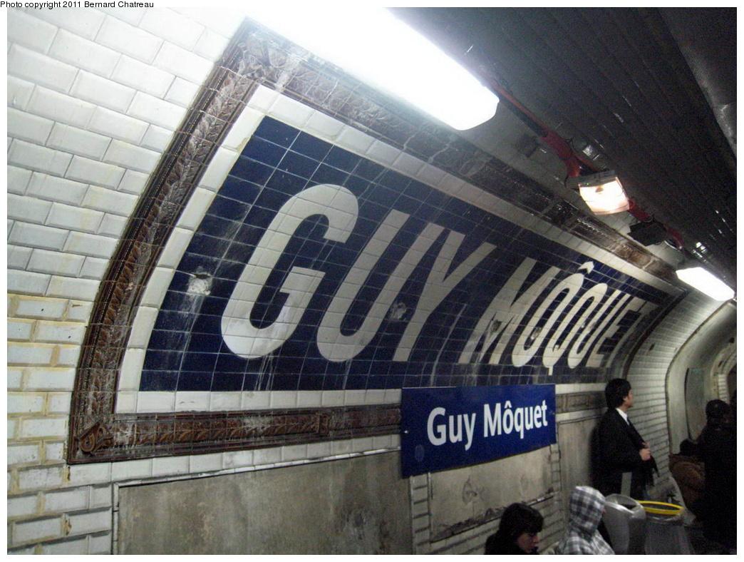 (344k, 1044x788)<br><b>Country:</b> France<br><b>City:</b> Paris<br><b>System:</b> RATP (Régie Autonome des Transports Parisiens)<br><b>Line:</b> Metro Ligne 13<br><b>Location:</b> Guy Môquet <br><b>Photo by:</b> Bernard Chatreau<br><b>Date:</b> 2/28/2009<br><b>Viewed (this week/total):</b> 0 / 408