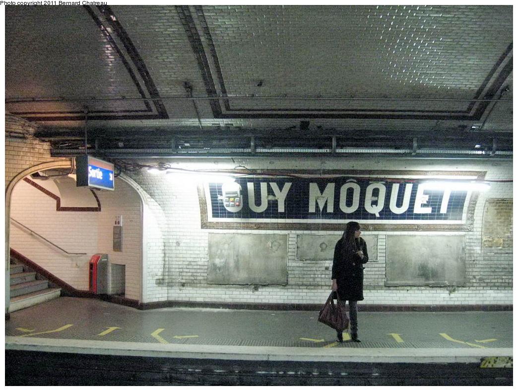 (371k, 1044x787)<br><b>Country:</b> France<br><b>City:</b> Paris<br><b>System:</b> RATP (Régie Autonome des Transports Parisiens)<br><b>Line:</b> Metro Ligne 13<br><b>Location:</b> Guy Môquet <br><b>Photo by:</b> Bernard Chatreau<br><b>Date:</b> 2/28/2009<br><b>Viewed (this week/total):</b> 0 / 414
