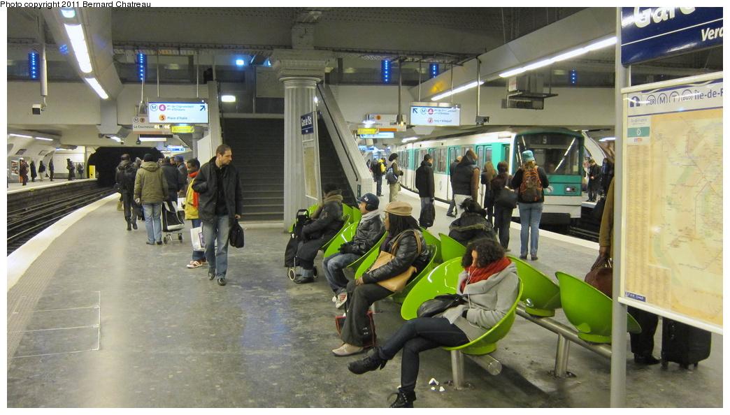 (274k, 1044x594)<br><b>Country:</b> France<br><b>City:</b> Paris<br><b>System:</b> RATP (Régie Autonome des Transports Parisiens)<br><b>Line:</b> Metro Ligne 7<br><b>Location:</b> Gare de l'Est <br><b>Photo by:</b> Bernard Chatreau<br><b>Date:</b> 12/3/2010<br><b>Viewed (this week/total):</b> 0 / 479
