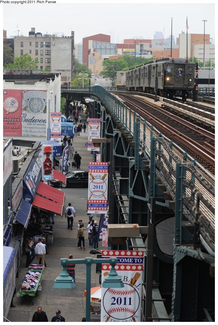 (315k, 702x1045)<br><b>Country:</b> United States<br><b>City:</b> New York<br><b>System:</b> New York City Transit<br><b>Line:</b> IRT Woodlawn Line<br><b>Location:</b> 161st Street/River Avenue (Yankee Stadium) <br><b>Route:</b> Transit Museum Nostalgia Train<br><b>Car:</b> Low-V (Museum Train) 5443 <br><b>Photo by:</b> Richard Panse<br><b>Date:</b> 5/22/2011<br><b>Viewed (this week/total):</b> 0 / 1002