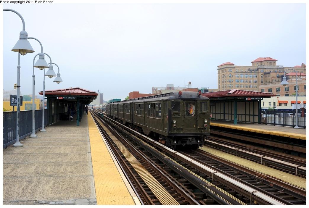 (255k, 1044x703)<br><b>Country:</b> United States<br><b>City:</b> New York<br><b>System:</b> New York City Transit<br><b>Line:</b> IRT Woodlawn Line<br><b>Location:</b> 167th Street <br><b>Route:</b> Transit Museum Nostalgia Train<br><b>Car:</b> Low-V (Museum Train) 5292 <br><b>Photo by:</b> Richard Panse<br><b>Date:</b> 5/22/2011<br><b>Viewed (this week/total):</b> 3 / 1047