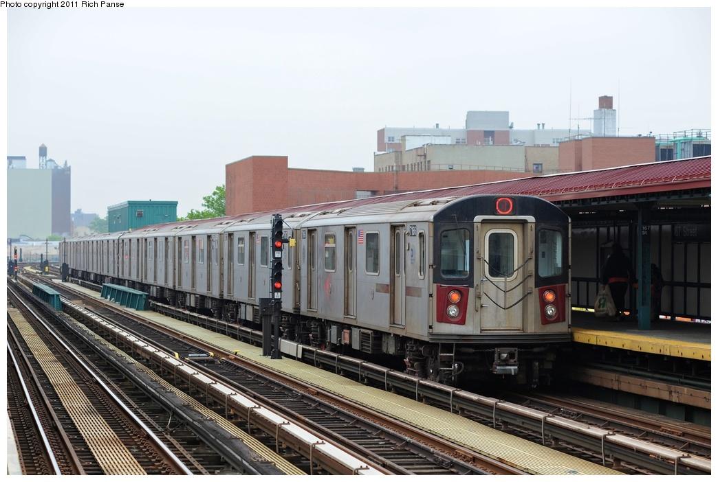 (252k, 1044x702)<br><b>Country:</b> United States<br><b>City:</b> New York<br><b>System:</b> New York City Transit<br><b>Line:</b> IRT Woodlawn Line<br><b>Location:</b> 167th Street <br><b>Route:</b> 4<br><b>Car:</b> R-142 (Option Order, Bombardier, 2002-2003)  7166 <br><b>Photo by:</b> Richard Panse<br><b>Date:</b> 5/22/2011<br><b>Viewed (this week/total):</b> 1 / 1028