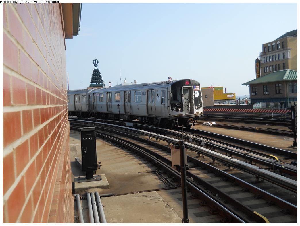 (342k, 1044x788)<br><b>Country:</b> United States<br><b>City:</b> New York<br><b>System:</b> New York City Transit<br><b>Location:</b> Coney Island/Stillwell Avenue<br><b>Route:</b> Q<br><b>Car:</b> R-160B (Option 1) (Kawasaki, 2008-2009)  9113 <br><b>Photo by:</b> Robert Mencher<br><b>Date:</b> 5/13/2011<br><b>Viewed (this week/total):</b> 1 / 888