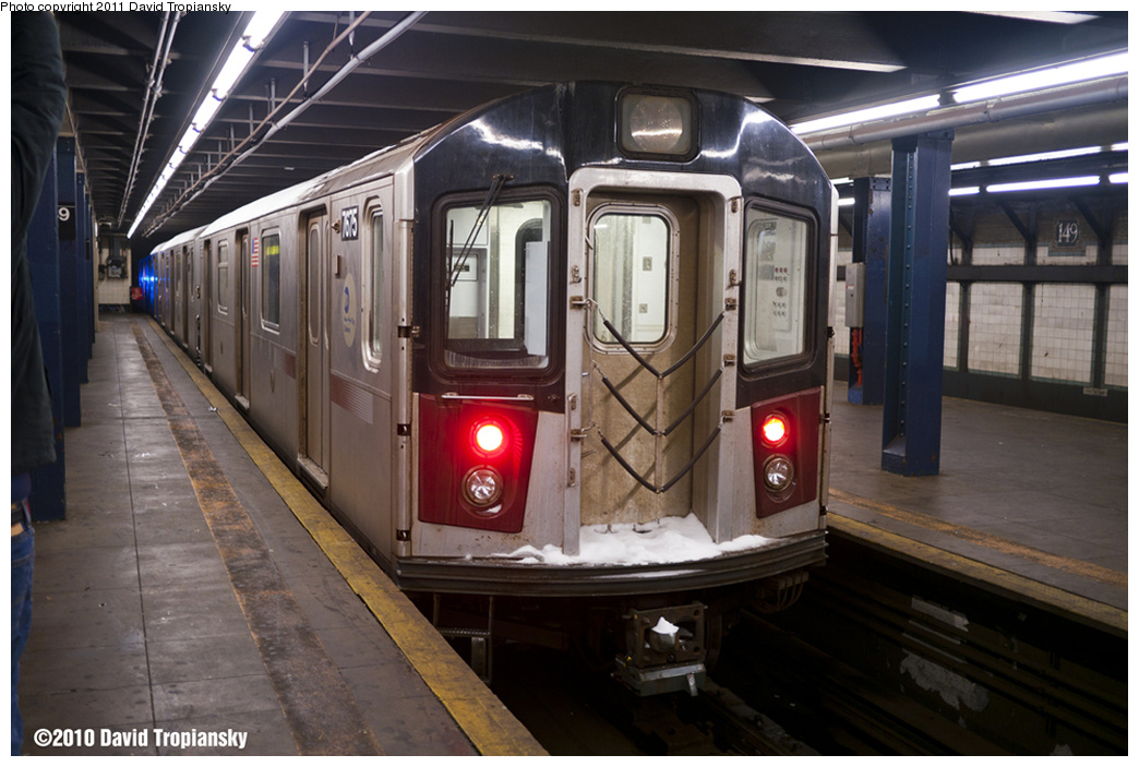 (317k, 1044x703)<br><b>Country:</b> United States<br><b>City:</b> New York<br><b>System:</b> New York City Transit<br><b>Line:</b> IRT Woodlawn Line<br><b>Location:</b> 149th Street/Grand Concourse <br><b>Car:</b> R-142A (Option Order, Kawasaki, 2002-2003)  7675 <br><b>Photo by:</b> David Tropiansky<br><b>Date:</b> 12/26/2010<br><b>Notes:</b> Blizzard of 2010<br><b>Viewed (this week/total):</b> 1 / 1698
