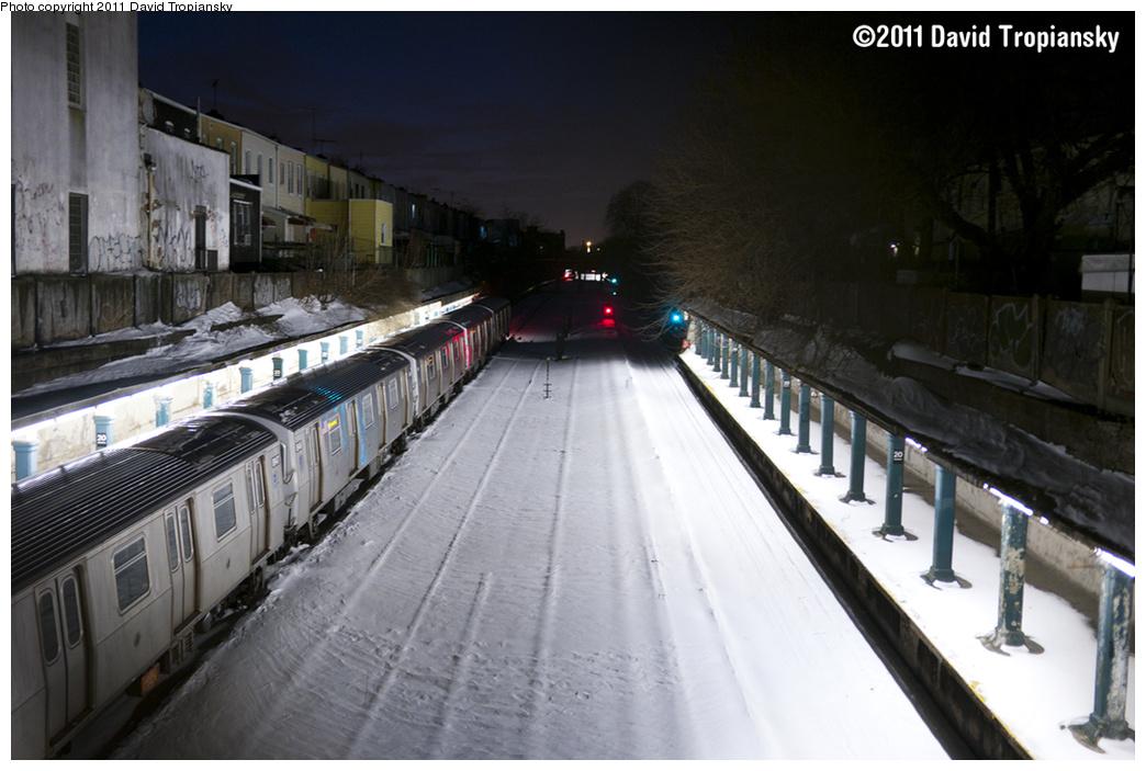(301k, 1044x703)<br><b>Country:</b> United States<br><b>City:</b> New York<br><b>System:</b> New York City Transit<br><b>Line:</b> BMT Sea Beach Line<br><b>Location:</b> 20th Avenue <br><b>Car:</b> R-160B (Kawasaki, 2005-2008)  8947 <br><b>Photo by:</b> David Tropiansky<br><b>Date:</b> 12/28/2010<br><b>Notes:</b> Train is stuck and shut down in the snow drifts.<br><b>Viewed (this week/total):</b> 3 / 1661