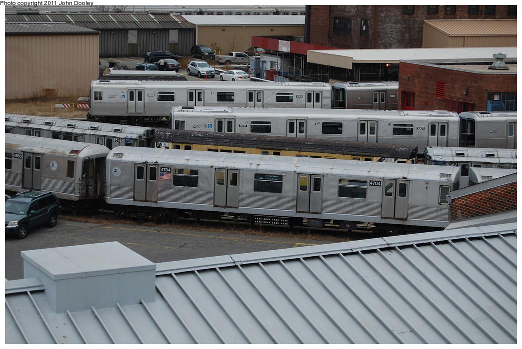 (351k, 1044x699)<br><b>Country:</b> United States<br><b>City:</b> New York<br><b>System:</b> New York City Transit<br><b>Location:</b> 207th Street Yard<br><b>Car:</b> R-42 (St. Louis, 1969-1970)  4704 <br><b>Photo by:</b> John Dooley<br><b>Date:</b> 12/10/2010<br><b>Viewed (this week/total):</b> 0 / 985