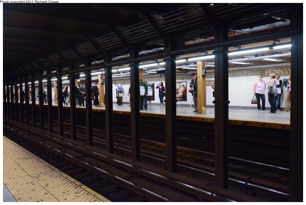 (347k, 1044x698)<br><b>Country:</b> United States<br><b>City:</b> New York<br><b>System:</b> New York City Transit<br><b>Line:</b> IRT West Side Line<br><b>Location:</b> 34th Street/Penn Station <br><b>Photo by:</b> Richard Chase<br><b>Date:</b> 5/23/2011<br><b>Viewed (this week/total):</b> 3 / 863