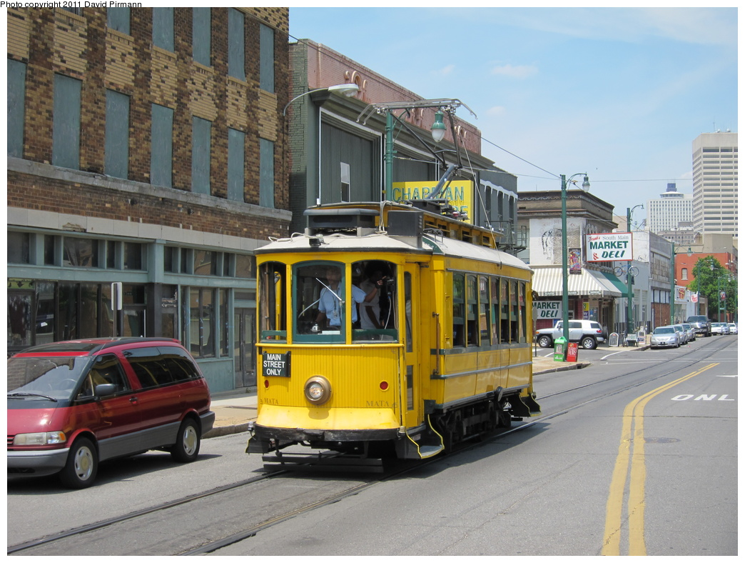 (341k, 1044x788)<br><b>Country:</b> United States<br><b>City:</b> Memphis, TN<br><b>System:</b> MATA <br><b>Line:</b> Main St. Line <br><b>Location:</b> Vance & Main <br><b>Car:</b> Porto Tram 180 <br><b>Photo by:</b> David Pirmann<br><b>Date:</b> 6/2/2011<br><b>Viewed (this week/total):</b> 1 / 708