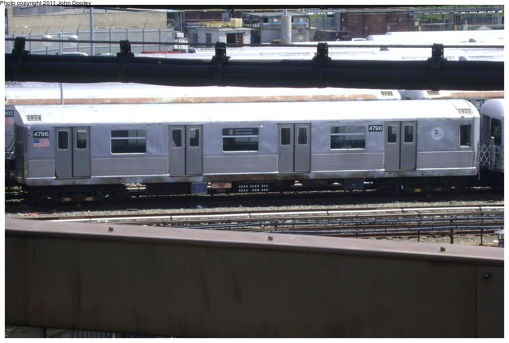 (253k, 1044x703)<br><b>Country:</b> United States<br><b>City:</b> New York<br><b>System:</b> New York City Transit<br><b>Location:</b> East New York Yard/Shops<br><b>Car:</b> R-42 (St. Louis, 1969-1970)  4796 <br><b>Photo by:</b> John Dooley<br><b>Date:</b> 5/25/2011<br><b>Viewed (this week/total):</b> 2 / 768