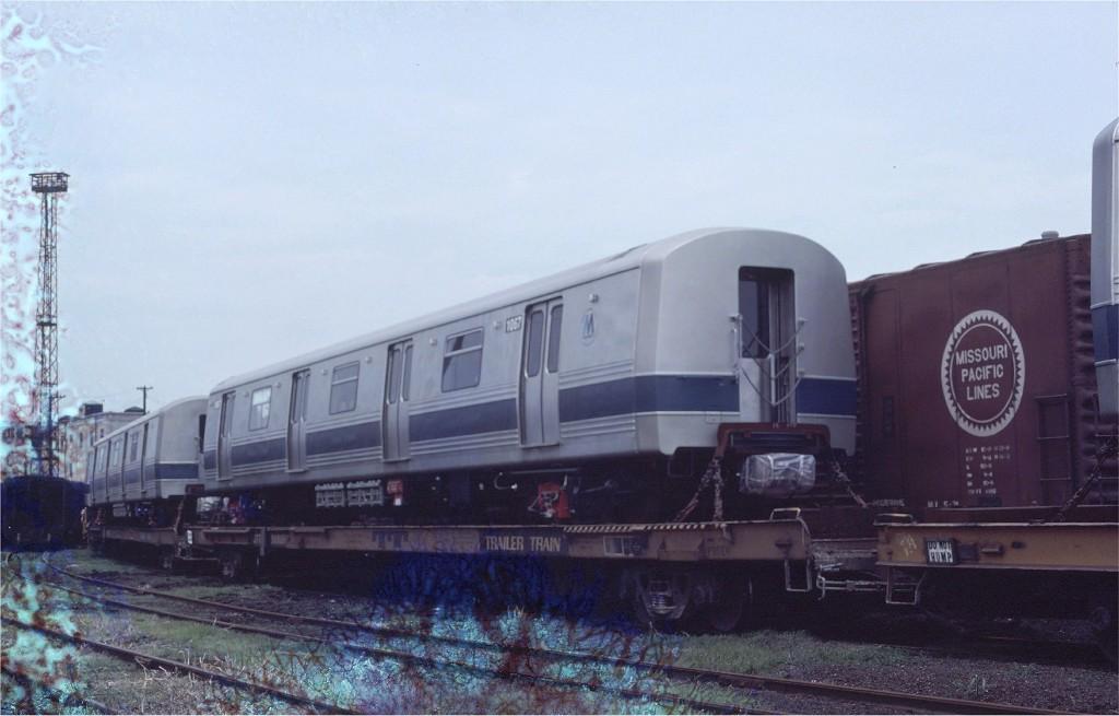 (136k, 1024x655)<br><b>Country:</b> United States<br><b>City:</b> Hoboken, NJ<br><b>System:</b> New York City Transit<br><b>Location:</b> Hoboken Yard <br><b>Car:</b> R-46 (Pullman-Standard, 1974-75) 1067 <br><b>Photo by:</b> Ed McKernan<br><b>Collection of:</b> Joe Testagrose<br><b>Date:</b> 7/4/1977<br><b>Viewed (this week/total):</b> 5 / 626