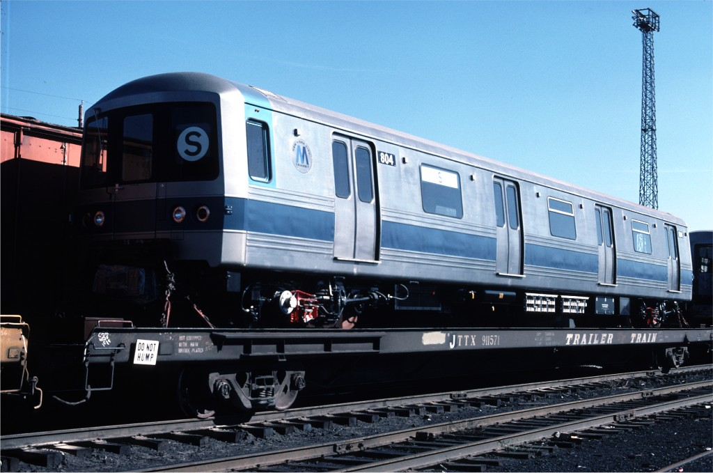 (161k, 1024x679)<br><b>Country:</b> United States<br><b>City:</b> Secaucus, NJ<br><b>System:</b> New York City Transit<br><b>Location:</b> Croxton Yard (NYCTA Equipment Delivery)<br><b>Car:</b> R-46 (Pullman-Standard, 1974-75) 804 <br><b>Photo by:</b> Ed McKernan<br><b>Collection of:</b> Joe Testagrose<br><b>Date:</b> 10/11/1976<br><b>Viewed (this week/total):</b> 1 / 771