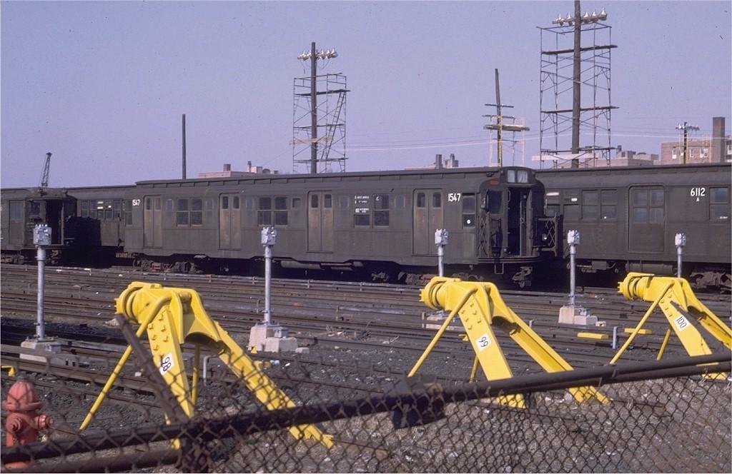 (194k, 1024x664)<br><b>Country:</b> United States<br><b>City:</b> New York<br><b>System:</b> New York City Transit<br><b>Location:</b> Coney Island Yard<br><b>Car:</b> R-7 (Pullman, 1937)  1547 <br><b>Photo by:</b> Joe Testagrose<br><b>Date:</b> 4/6/1969<br><b>Viewed (this week/total):</b> 0 / 773