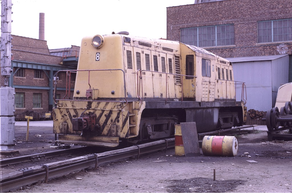 (216k, 1024x679)<br><b>Country:</b> United States<br><b>City:</b> New York<br><b>System:</b> New York City Transit<br><b>Location:</b> Coney Island Yard<br><b>Car:</b> Whitcomb Locomotive 8 <br><b>Photo by:</b> Joe Testagrose<br><b>Date:</b> 4/25/1971<br><b>Viewed (this week/total):</b> 1 / 638