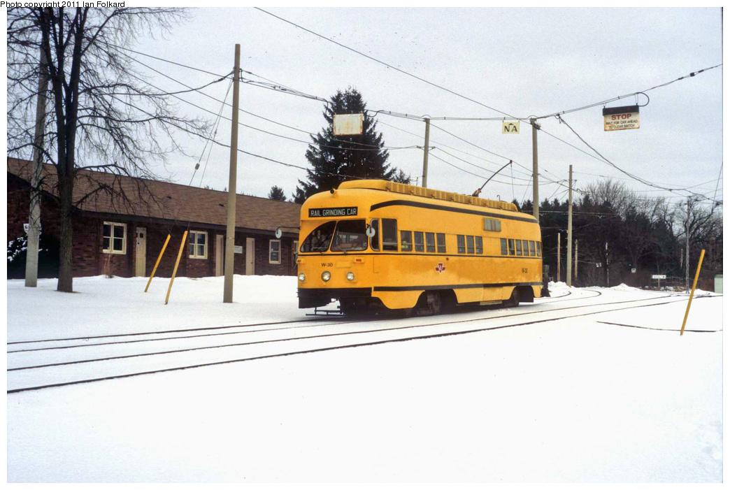 (290k, 1044x701)<br><b>Country:</b> Canada<br><b>City:</b> Toronto<br><b>System:</b> Halton County Radial Railway <br><b>Car:</b> PCC (TTC Toronto) W-30 <br><b>Photo by:</b> Ian Folkard<br><b>Date:</b> 2/13/2010<br><b>Notes:</b> W-30 at the West End loop. This was for HCRR's hosting of Winterfest.<br><b>Viewed (this week/total):</b> 0 / 914