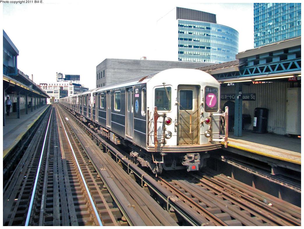 (445k, 1044x788)<br><b>Country:</b> United States<br><b>City:</b> New York<br><b>System:</b> New York City Transit<br><b>Line:</b> IRT Flushing Line<br><b>Location:</b> Court House Square/45th Road <br><b>Route:</b> 7<br><b>Car:</b> R-62A (Bombardier, 1984-1987)  1671 <br><b>Photo by:</b> Bill E.<br><b>Date:</b> 4/25/2011<br><b>Viewed (this week/total):</b> 1 / 1033