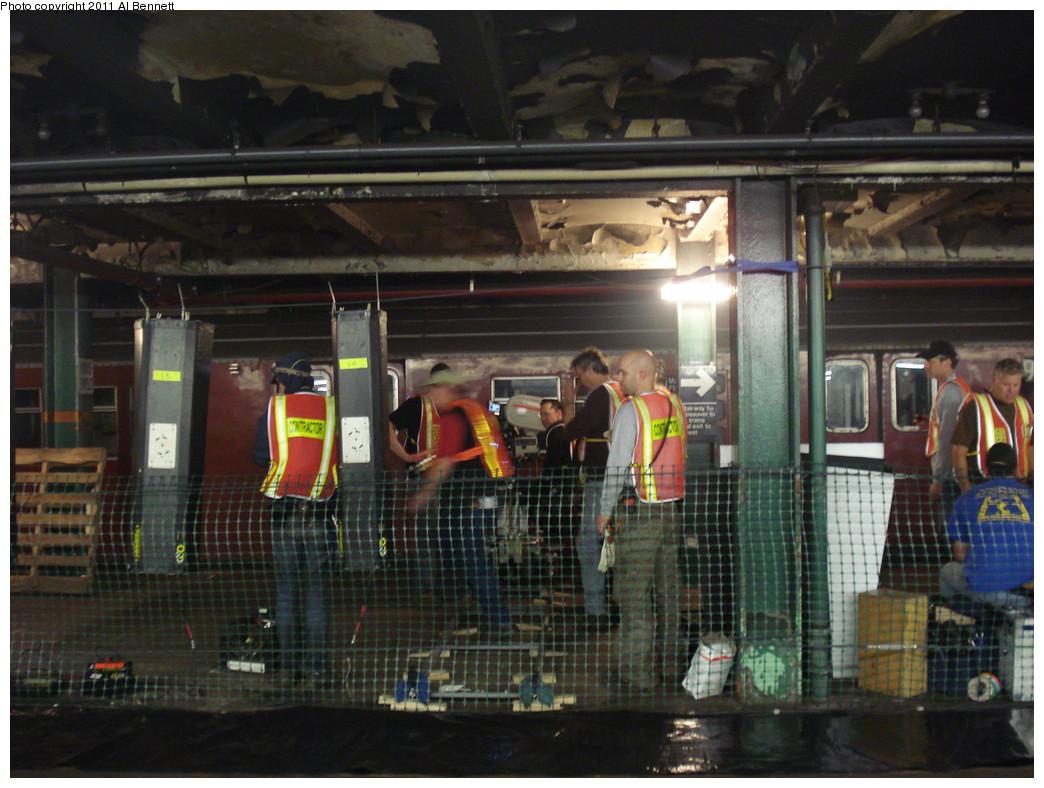 (238k, 1044x788)<br><b>Country:</b> United States<br><b>City:</b> New York<br><b>System:</b> New York City Transit<br><b>Line:</b> IND Fulton Street Line<br><b>Location:</b> Hoyt-Schermerhorn Street <br><b>Photo by:</b> Al Bennett, Jr.<br><b>Date:</b> 5/19/2008<br><b>Notes:</b> Taking of Pelham 1-2-3 (remake) movie shoot.<br><b>Viewed (this week/total):</b> 1 / 1191