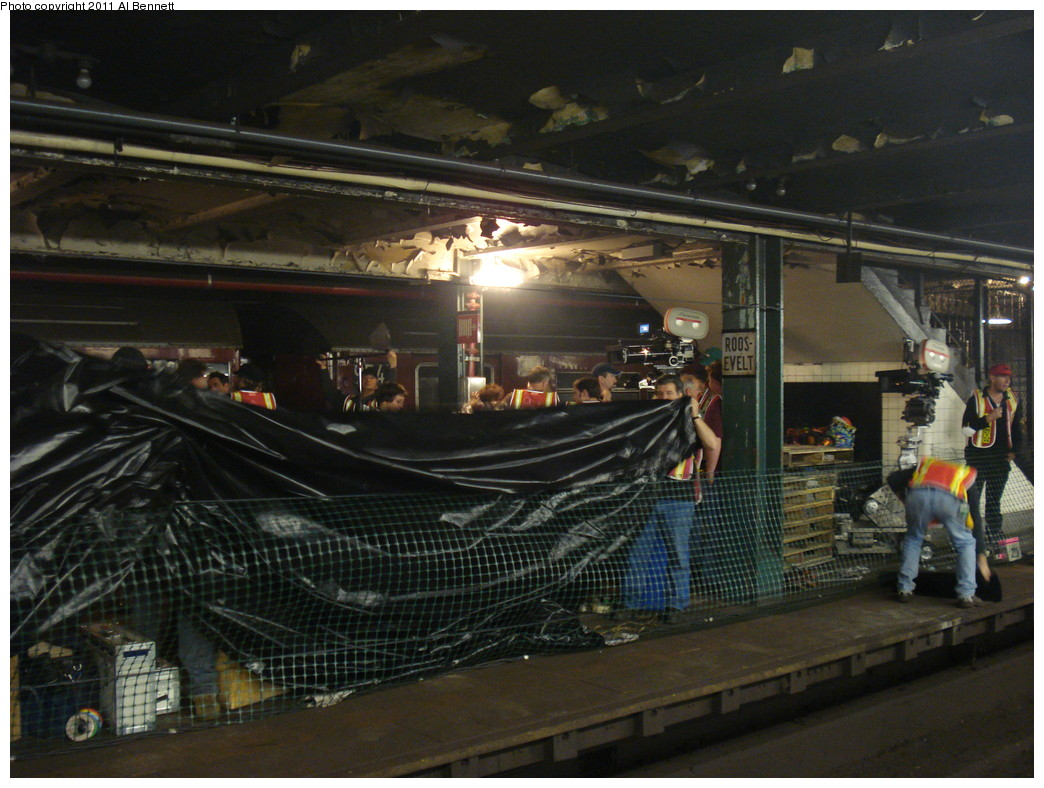 (234k, 1044x788)<br><b>Country:</b> United States<br><b>City:</b> New York<br><b>System:</b> New York City Transit<br><b>Line:</b> IND Fulton Street Line<br><b>Location:</b> Hoyt-Schermerhorn Street <br><b>Photo by:</b> Al Bennett, Jr.<br><b>Date:</b> 5/19/2008<br><b>Notes:</b> Taking of Pelham 1-2-3 (remake) movie shoot.<br><b>Viewed (this week/total):</b> 3 / 1052