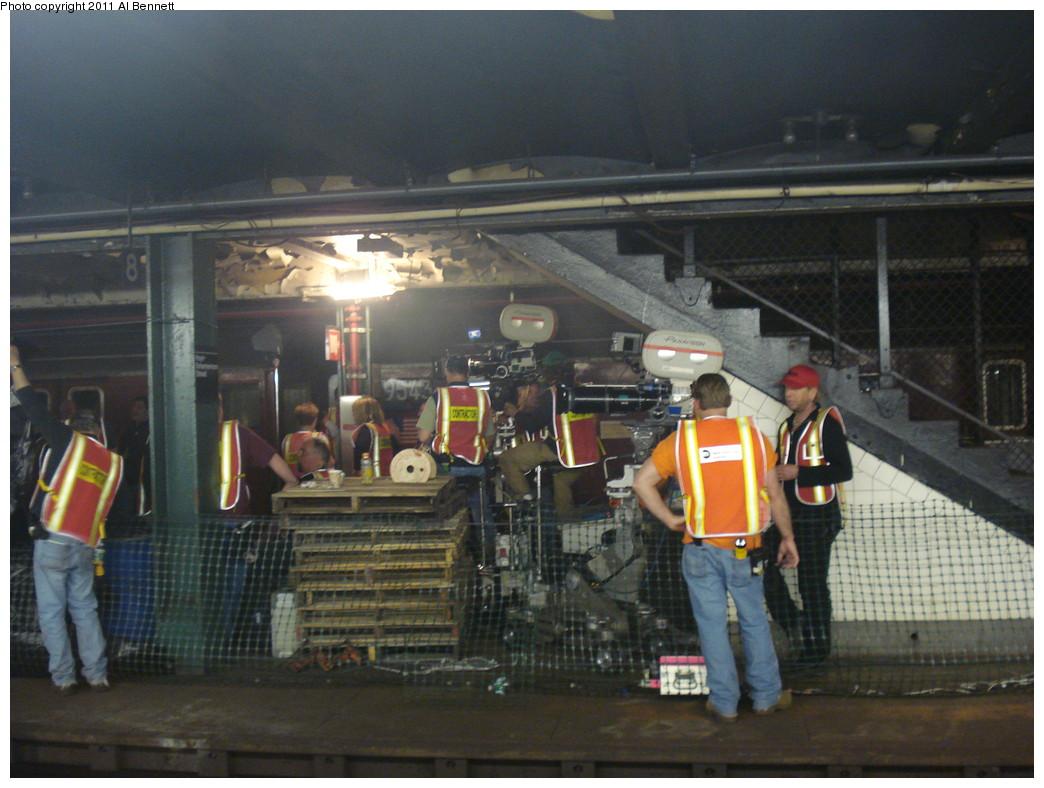 (223k, 1044x788)<br><b>Country:</b> United States<br><b>City:</b> New York<br><b>System:</b> New York City Transit<br><b>Line:</b> IND Fulton Street Line<br><b>Location:</b> Hoyt-Schermerhorn Street <br><b>Photo by:</b> Al Bennett, Jr.<br><b>Date:</b> 5/19/2008<br><b>Notes:</b> Taking of Pelham 1-2-3 (remake) movie shoot.<br><b>Viewed (this week/total):</b> 0 / 1031