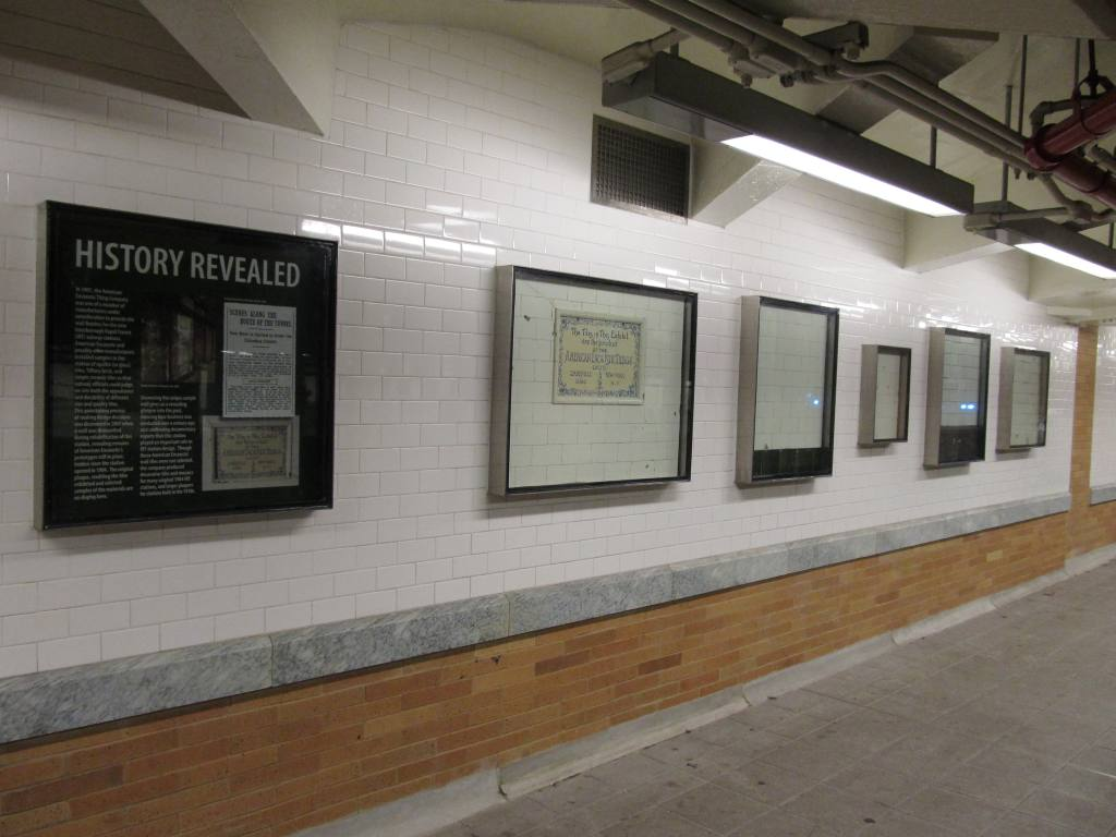 (88k, 1024x768)<br><b>Country:</b> United States<br><b>City:</b> New York<br><b>System:</b> New York City Transit<br><b>Line:</b> IRT West Side Line<br><b>Location:</b> 59th Street/Columbus Circle <br><b>Photo by:</b> Robbie Rosenfeld<br><b>Date:</b> 5/23/2011<br><b>Notes:</b> Original tile installation exhibit.<br><b>Viewed (this week/total):</b> 0 / 950