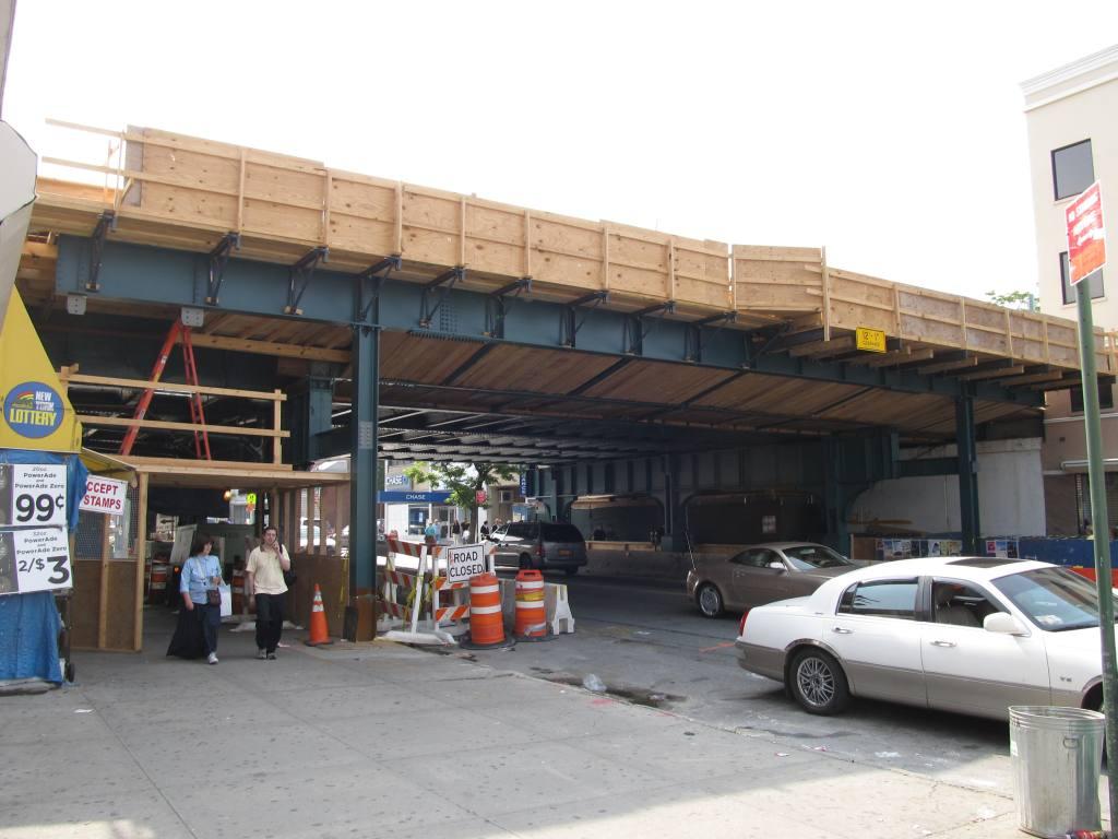 (99k, 1024x768)<br><b>Country:</b> United States<br><b>City:</b> New York<br><b>System:</b> New York City Transit<br><b>Line:</b> BMT Brighton Line<br><b>Location:</b> Avenue M <br><b>Photo by:</b> Robbie Rosenfeld<br><b>Date:</b> 6/12/2011<br><b>Notes:</b> Station reconstruction.<br><b>Viewed (this week/total):</b> 3 / 1230