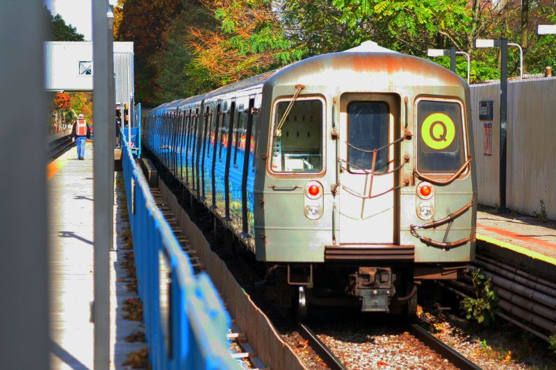 (116k, 800x533)<br><b>Country:</b> United States<br><b>City:</b> New York<br><b>System:</b> New York City Transit<br><b>Line:</b> BMT Brighton Line<br><b>Location:</b> Avenue J<br><b>Route:</b> Q<br><b>Car:</b> R-68A (Kawasaki, 1988-1989) 5062 <br><b>Photo by:</b> Neil Feldman<br><b>Date:</b> 10/30/2009<br><b>Viewed (this week/total):</b> 0 / 1364