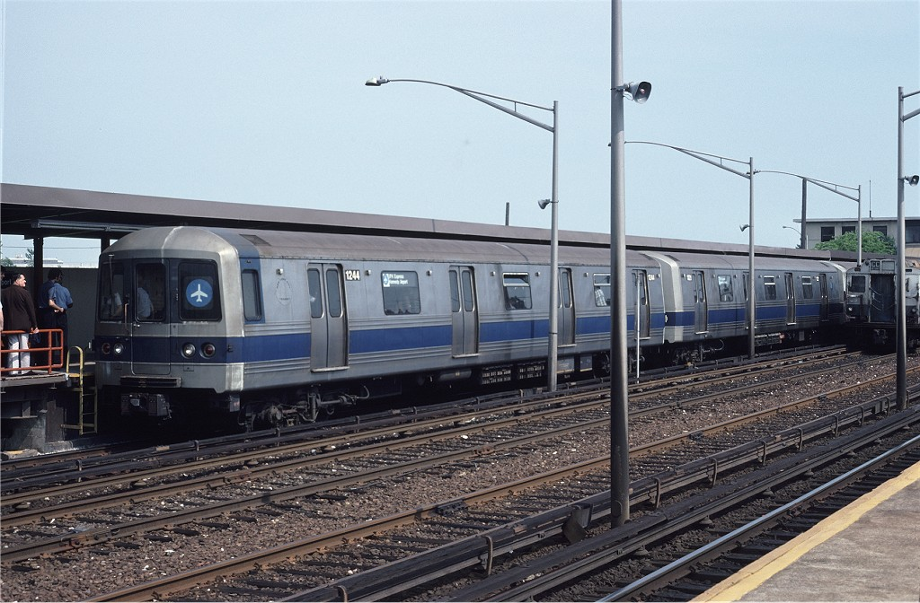 (205k, 1024x672)<br><b>Country:</b> United States<br><b>City:</b> New York<br><b>System:</b> New York City Transit<br><b>Line:</b> IND Rockaway<br><b>Location:</b> Howard Beach <br><b>Route:</b> S<br><b>Car:</b> R-46 (Pullman-Standard, 1974-75) 1244 <br><b>Collection of:</b> Joe Testagrose<br><b>Date:</b> 7/1/1979<br><b>Viewed (this week/total):</b> 3 / 1194