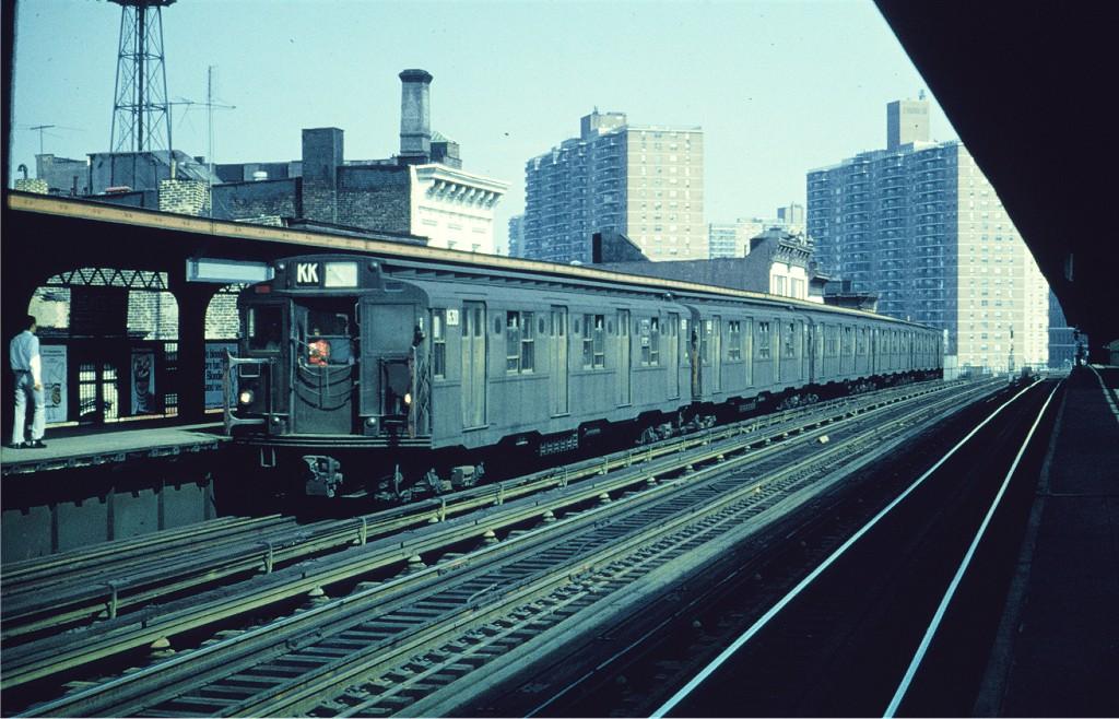 (209k, 1024x658)<br><b>Country:</b> United States<br><b>City:</b> New York<br><b>System:</b> New York City Transit<br><b>Line:</b> BMT Nassau Street/Jamaica Line<br><b>Location:</b> Hewes Street <br><b>Route:</b> KK<br><b>Car:</b> R-7A (American Car & Foundry, 1938)  1630 <br><b>Collection of:</b> Joe Testagrose<br><b>Date:</b> 8/1968<br><b>Viewed (this week/total):</b> 0 / 928