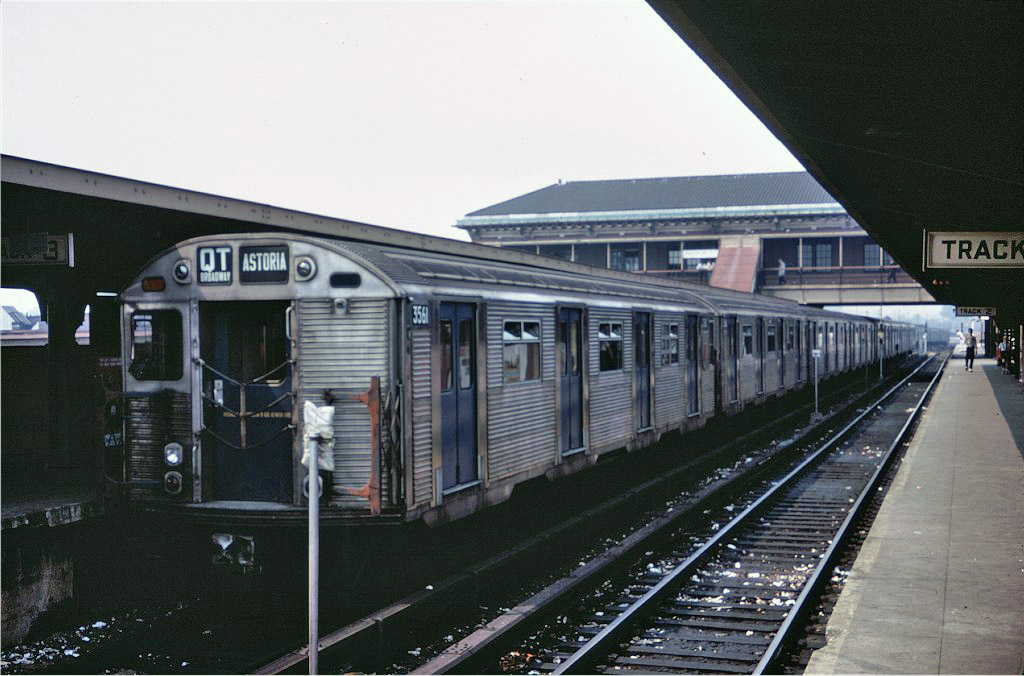 (182k, 1024x676)<br><b>Country:</b> United States<br><b>City:</b> New York<br><b>System:</b> New York City Transit<br><b>Location:</b> Coney Island/Stillwell Avenue<br><b>Route:</b> QT<br><b>Car:</b> R-32 (Budd, 1964)  3561 <br><b>Photo by:</b> Doug Grotjahn<br><b>Collection of:</b> Joe Testagrose<br><b>Date:</b> 8/7/1967<br><b>Viewed (this week/total):</b> 1 / 1206