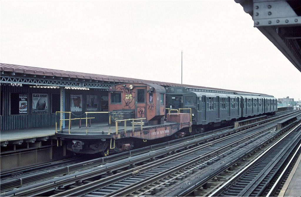 (200k, 1024x671)<br><b>Country:</b> United States<br><b>City:</b> New York<br><b>System:</b> New York City Transit<br><b>Line:</b> BMT West End Line<br><b>Location:</b> 20th Avenue <br><b>Route:</b> Fan Trip<br><b>Car:</b> R-3 Motor Flat Car (Drill Motor) (Magor Car, 1932)  41 <br><b>Photo by:</b> Ed McKernan<br><b>Collection of:</b> Joe Testagrose<br><b>Date:</b> 3/20/1977<br><b>Viewed (this week/total):</b> 1 / 1043
