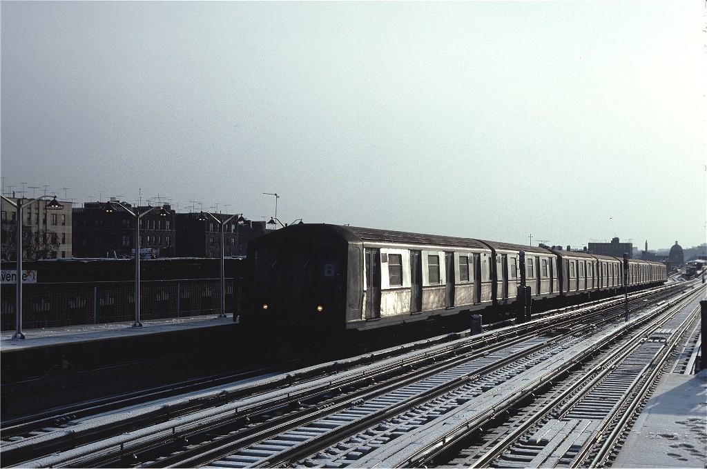 (219k, 1024x680)<br><b>Country:</b> United States<br><b>City:</b> New York<br><b>System:</b> New York City Transit<br><b>Line:</b> BMT West End Line<br><b>Location:</b> 20th Avenue <br><b>Route:</b> B<br><b>Car:</b> R-40 (St. Louis, 1968)  4289 <br><b>Photo by:</b> Steve Zabel<br><b>Collection of:</b> Joe Testagrose<br><b>Date:</b> 12/16/1981<br><b>Viewed (this week/total):</b> 2 / 942