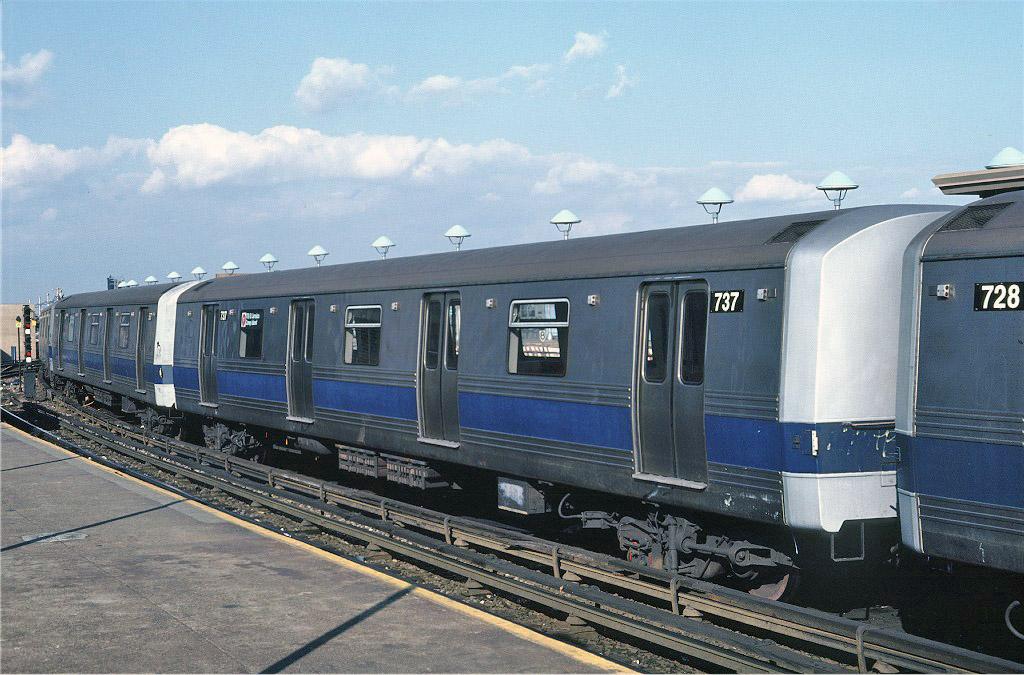 (235k, 1024x675)<br><b>Country:</b> United States<br><b>City:</b> New York<br><b>System:</b> New York City Transit<br><b>Location:</b> Coney Island/Stillwell Avenue<br><b>Route:</b> F<br><b>Car:</b> R-46 (Pullman-Standard, 1974-75) 737 <br><b>Photo by:</b> Steve Zabel<br><b>Collection of:</b> Joe Testagrose<br><b>Date:</b> 11/6/1981<br><b>Viewed (this week/total):</b> 2 / 1191