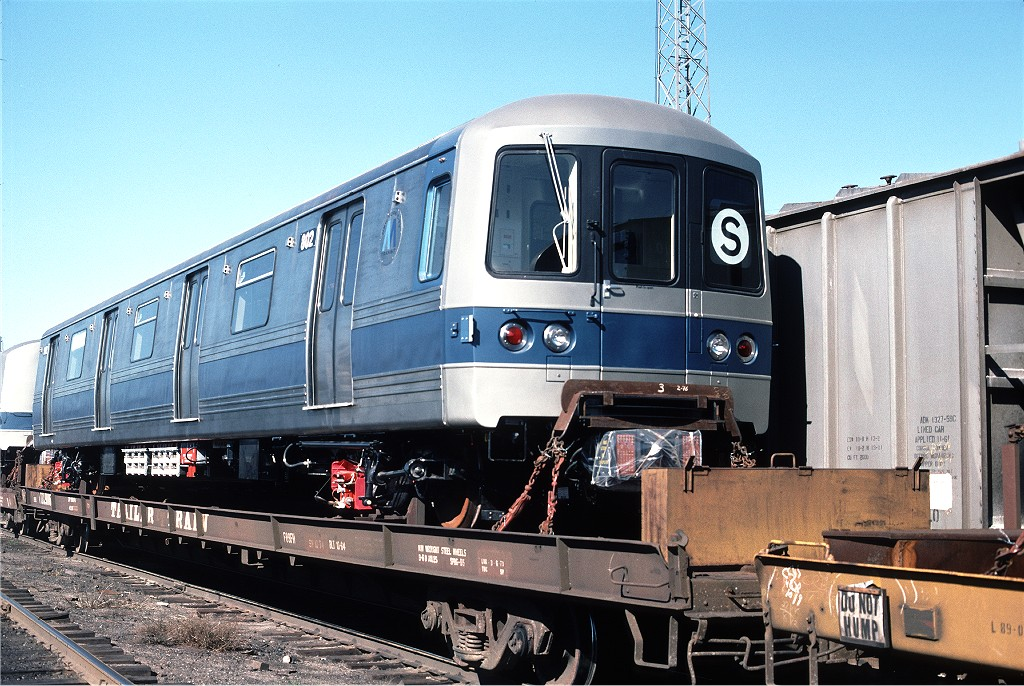 (240k, 1024x686)<br><b>Country:</b> United States<br><b>City:</b> Secaucus, NJ<br><b>System:</b> New York City Transit<br><b>Location:</b> Croxton Yard (NYCTA Equipment Delivery)<br><b>Car:</b> R-46 (Pullman-Standard, 1974-75) 802 <br><b>Photo by:</b> Willie Rosenberg<br><b>Collection of:</b> Joe Testagrose<br><b>Date:</b> 10/11/1976<br><b>Viewed (this week/total):</b> 3 / 623