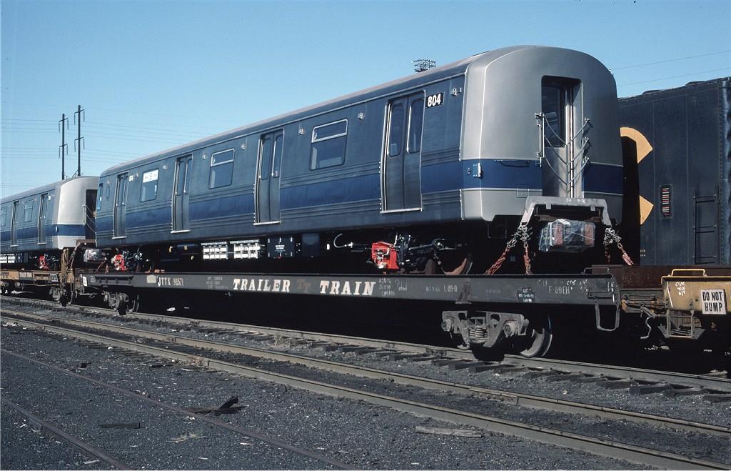 (209k, 1024x659)<br><b>Country:</b> United States<br><b>City:</b> Secaucus, NJ<br><b>System:</b> New York City Transit<br><b>Location:</b> Croxton Yard (NYCTA Equipment Delivery)<br><b>Car:</b> R-46 (Pullman-Standard, 1974-75) 804 <br><b>Photo by:</b> Willie Rosenberg<br><b>Collection of:</b> Joe Testagrose<br><b>Date:</b> 10/11/1976<br><b>Viewed (this week/total):</b> 0 / 553