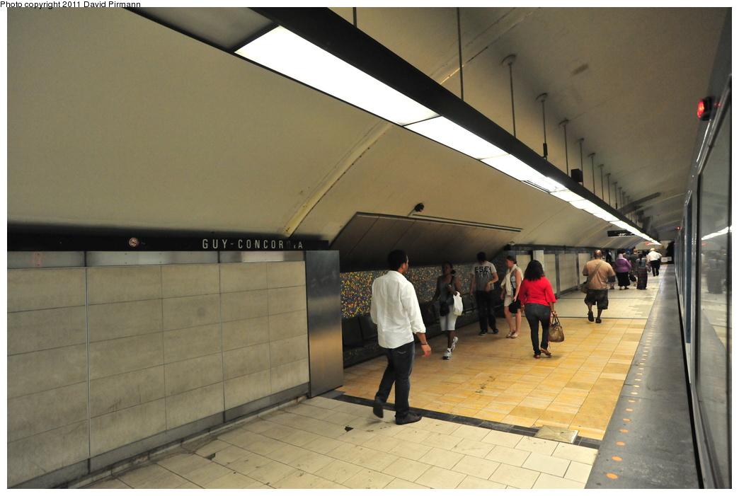 (297k, 1044x701)<br><b>Country:</b> Canada<br><b>City:</b> Montréal, Québec<br><b>System:</b> STM-Metro<br><b>Line:</b> STM Green Line <br><b>Location:</b> Guy-Concordia <br><b>Photo by:</b> David Pirmann<br><b>Date:</b> 7/2/2011<br><b>Viewed (this week/total):</b> 1 / 324