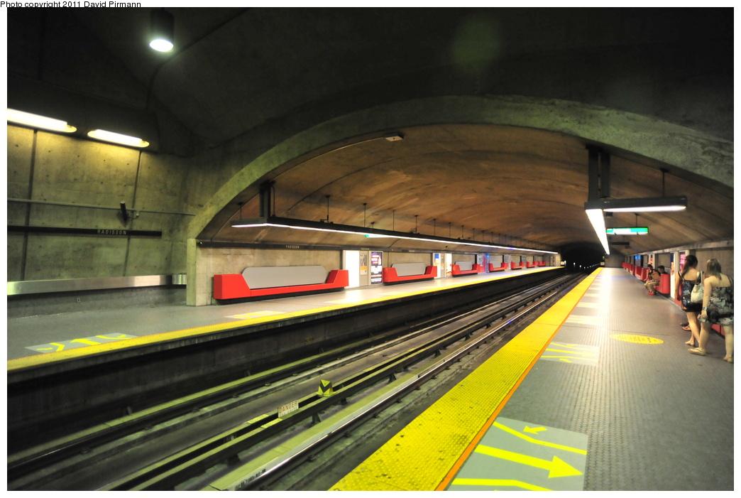 (314k, 1044x701)<br><b>Country:</b> Canada<br><b>City:</b> Montréal, Québec<br><b>System:</b> STM-Metro<br><b>Line:</b> STM Green Line <br><b>Location:</b> Radisson <br><b>Photo by:</b> David Pirmann<br><b>Date:</b> 7/2/2011<br><b>Viewed (this week/total):</b> 1 / 271