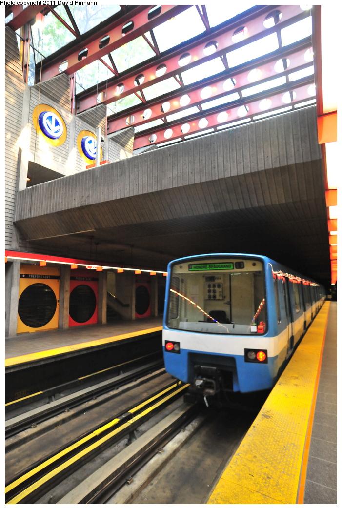 (373k, 701x1043)<br><b>Country:</b> Canada<br><b>City:</b> Montréal, Québec<br><b>System:</b> STM-Metro<br><b>Line:</b> STM Green Line <br><b>Location:</b> Préfontaine <br><b>Photo by:</b> David Pirmann<br><b>Date:</b> 7/2/2011<br><b>Viewed (this week/total):</b> 1 / 349