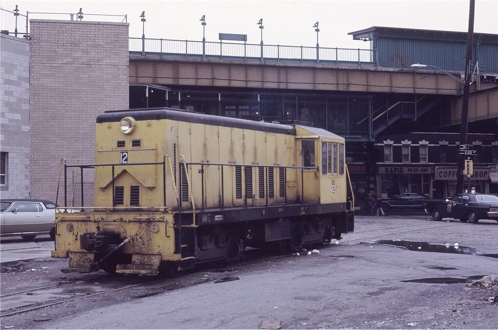(204k, 1024x679)<br><b>Country:</b> United States<br><b>City:</b> New York<br><b>System:</b> New York City Transit<br><b>Location:</b> LIRR Parkville Jct<br><b>Car:</b> GE 70T Locomotive (SBK)  12 <br><b>Photo by:</b> Doug Grotjahn<br><b>Collection of:</b> Joe Testagrose<br><b>Date:</b> 3/5/1972<br><b>Viewed (this week/total):</b> 0 / 796
