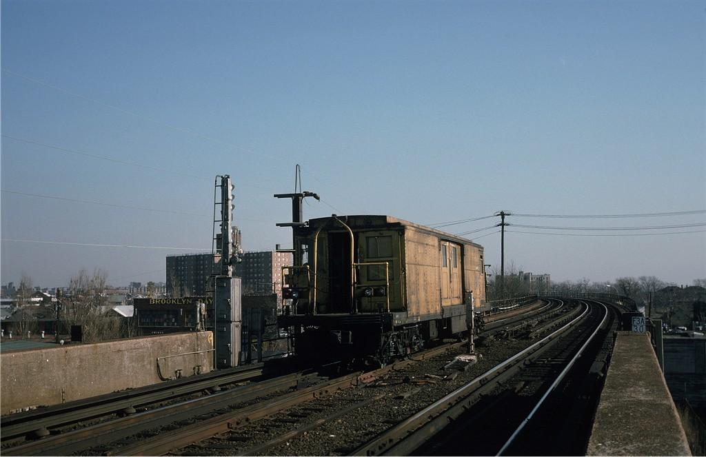 (151k, 1024x663)<br><b>Country:</b> United States<br><b>City:</b> New York<br><b>System:</b> New York City Transit<br><b>Line:</b> IND Rockaway<br><b>Location:</b> Hammels Wye <br><b>Car:</b> BMT Signal Supply Car (Diff. Car Co., 1927)  44 <br><b>Photo by:</b> Steve Zabel<br><b>Collection of:</b> Joe Testagrose<br><b>Date:</b> 12/19/1974<br><b>Viewed (this week/total):</b> 2 / 1260