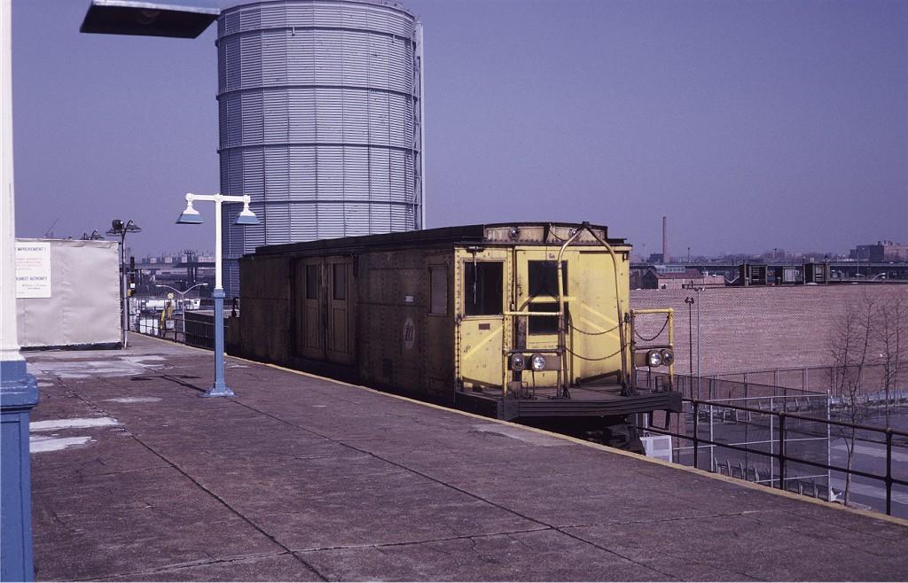(198k, 1024x658)<br><b>Country:</b> United States<br><b>City:</b> New York<br><b>System:</b> New York City Transit<br><b>Location:</b> Coney Island/Stillwell Avenue<br><b>Car:</b> BMT Signal Supply Car (Diff. Car Co., 1927)  44 <br><b>Photo by:</b> Steve Zabel<br><b>Collection of:</b> Joe Testagrose<br><b>Date:</b> 2/19/1971<br><b>Viewed (this week/total):</b> 1 / 1083