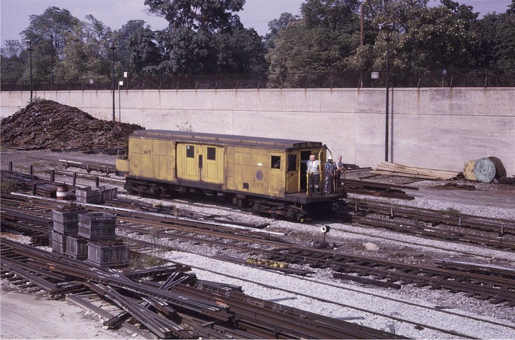 (284k, 1024x676)<br><b>Country:</b> United States<br><b>City:</b> New York<br><b>System:</b> New York City Transit<br><b>Location:</b> 36th Street Yard<br><b>Car:</b> BMT Signal Supply Car (Diff. Car Co., 1927)  44 <br><b>Photo by:</b> Doug Grotjahn<br><b>Collection of:</b> Joe Testagrose<br><b>Date:</b> 9/20/1970<br><b>Viewed (this week/total):</b> 3 / 898