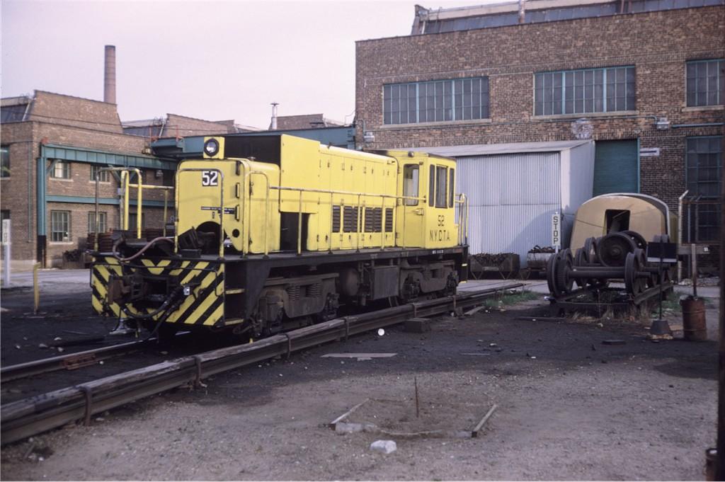 (176k, 1024x681)<br><b>Country:</b> United States<br><b>City:</b> New York<br><b>System:</b> New York City Transit<br><b>Location:</b> Coney Island Yard<br><b>Car:</b> R-37 Locomotive  52 <br><b>Photo by:</b> Steve Zabel<br><b>Collection of:</b> Joe Testagrose<br><b>Date:</b> 4/29/1972<br><b>Viewed (this week/total):</b> 4 / 503