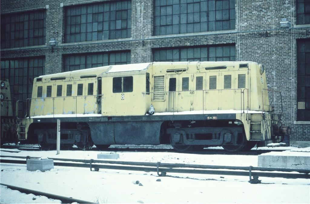 (205k, 1024x672)<br><b>Country:</b> United States<br><b>City:</b> New York<br><b>System:</b> New York City Transit<br><b>Location:</b> Coney Island Yard<br><b>Car:</b> Whitcomb Locomotive 8 <br><b>Collection of:</b> Joe Testagrose<br><b>Date:</b> 1/1968<br><b>Viewed (this week/total):</b> 0 / 788