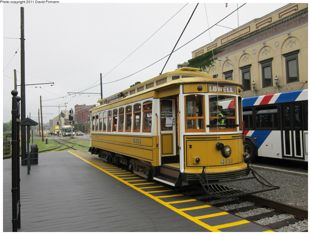 (318k, 1044x788)<br><b>Country:</b> United States<br><b>City:</b> Lowell, MA<br><b>System:</b> National Streetcar Museum at Lowell <br><b>Car:</b>  4131 <br><b>Photo by:</b> David Pirmann<br><b>Date:</b> 6/23/2011<br><b>Viewed (this week/total):</b> 1 / 819
