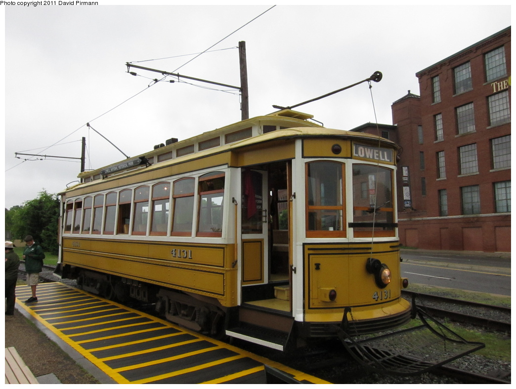 (281k, 1044x788)<br><b>Country:</b> United States<br><b>City:</b> Lowell, MA<br><b>System:</b> National Streetcar Museum at Lowell <br><b>Car:</b>  4131 <br><b>Photo by:</b> David Pirmann<br><b>Date:</b> 6/23/2011<br><b>Viewed (this week/total):</b> 1 / 818