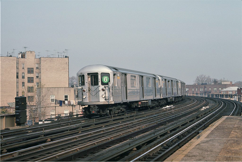 (305k, 1024x683)<br><b>Country:</b> United States<br><b>City:</b> New York<br><b>System:</b> New York City Transit<br><b>Line:</b> IRT Pelham Line<br><b>Location:</b> Buhre Avenue <br><b>Car:</b> R-62A (Bombardier, 1984-1987)  1865 <br><b>Photo by:</b> Steve Zabel<br><b>Collection of:</b> Joe Testagrose<br><b>Date:</b> 11/8/1987<br><b>Viewed (this week/total):</b> 2 / 1924