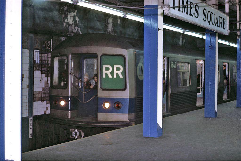 (233k, 1024x685)<br><b>Country:</b> United States<br><b>City:</b> New York<br><b>System:</b> New York City Transit<br><b>Line:</b> BMT Broadway Line<br><b>Location:</b> Times Square/42nd Street <br><b>Car:</b> R-42 (St. Louis, 1969-1970)  4849 <br><b>Photo by:</b> Joe Testagrose<br><b>Date:</b> 2/9/1971<br><b>Viewed (this week/total):</b> 1 / 1628