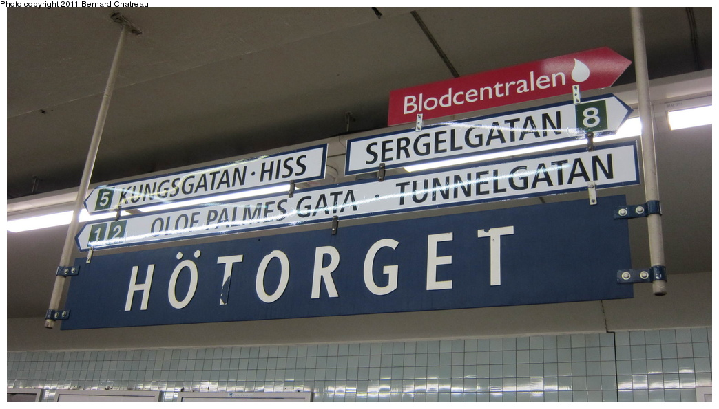 (221k, 1044x595)<br><b>Country:</b> Sweden<br><b>City:</b> Stockholm<br><b>System:</b> Storstockholms Lokaltrafik<br><b>Line:</b> Tunnelbana Green Line<br><b>Location:</b> Hötorget<br><b>Photo by:</b> Bernard Chatreau<br><b>Date:</b> 9/16/2010<br><b>Viewed (this week/total):</b> 0 / 491